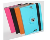 Wholesale Color Kindle Cases - Fashion New Tablet cases 360 Degree Rotating 7inch 8inch 9inch 10inch Multi-color Leather Case Flip Cover Buckled Universal Tablet Case