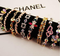 Wholesale Amethyst Gold Jewelry - 2016 fashion charms bracelets for women turquoise jewelry Gold-plated zircon bracelets Fashion luxury diamond bracelet