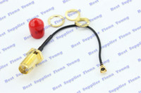 Wholesale Rp Sma Bulkhead - 50 pcs\lot Goldplated RP SMA Jack (Male Pin) Bulkhead to Ufl. IPX Connector 7cm Extension Pigtail 1.13 Cable Free Shipping