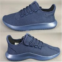 Nuovo 2017 Tubular Shadow Knit lifestyle sneakers NUOVO mistero blu BB8825 Boost per Top quality Fashion Running Shoes Size 36-45 Spedizione Gratuita