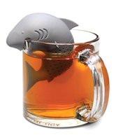 Wholesale Submarine Tea - 10 pcs lot Silicone Tea Infuser Shark Manatee Skull Submarine Shape Strainers Infusor Empty Tea Bags Leaf Filter Diffuser Te Infusores