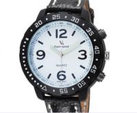 Wholesale Big Face Watches Men - 2015 HOT Sale V6 Casual Quartz Men Watches Sport big face Wristwatch Dropship lether Clock Fashion Hours Dress Watch CHRISTMAS GIFT