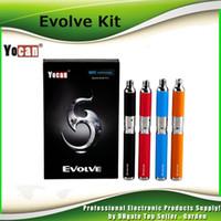 Wholesale Pink Ecig - Original Yocan Evolve Starter Kit 650mah Quartz Dual Coils Wax vaporizer Pen Kit 5 Colors Vape Pens genuine Ecig Kits DHL Free 2204020