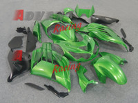 Wholesale Green Kit Fairing - Green Black Injection Fairings Bodywork Set kit Kawasaki Ninja ZX14R 2012-2014 86