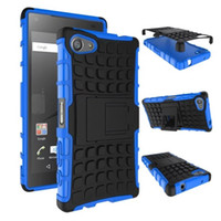 Wholesale Tpu Case For Sony M5 - 2 in 1 Hybrid KickStand Impact Rugged Heavy Duty TPU+PC CASE Cover for Sony XPERIA Z2 Z3 Z3 COMPACT Z4 Z5 Z5 COMPACT M4 M5 E4 E4G 50PCS