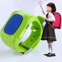 Wholesale Kid Gps Tracking Watch - Child Security Smart Watch phone Q50 GPS Track SIM Talk Wristwatch Smartwatch Remote Monitor Location SOS Kids