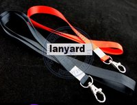 Wholesale Phone Strap Lobster Clasp - Wholesale-wide 1.5cm neck Strap lanyard ID Card Cell Phone Badge MP5 Holder Lobster Clasp 8 color option CN post