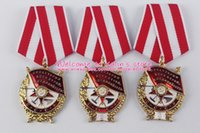 Wholesale Ussr Medal - medal gift XDT0025 Soviet Union Order of the Military Award Red Banner Bearing number '2' USSR Red Banner Medal with