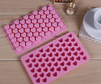 Wholesale Heart Soap Mould - Silicone 55 Heart Cake Chocolate Cookies Baking Mould Ice Cube Soap Mold Tray