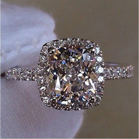 Wholesale women engagement rings resale online - Size5 Victoria Weick Jewelry sterling silver filled White sapphire Gem Zirconia gold Women Wedding Engagement band ring gift