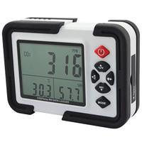 digitaler temperaturfeuchtigkeitsmonitor großhandel-Großhandel-Digital CO2 Monitor CO2 Meter HT-2000 Gas Analyzer Detektor 9999 ppm CO2-Analysatoren mit Temperatur und relative Luftfeuchtigkeit Test