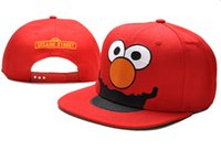 Wholesale Cartoons Snap Caps - Cartoon Adults Snapback Cap Sesame Street red Snap backs Hats Causal Caps drop free shipping offer thousands of styles hats albums offer TY