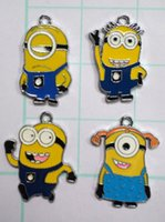 Wholesale Dhl Jewellery - DHL free shipping , Wholesale 5000 pcs lovely Despicable me 2 Metal Charms pendants DIY Jewellery Making Earring