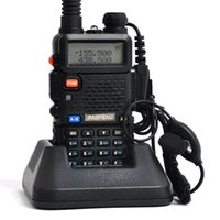 Wholesale Uhf Vhf Interphone Transceiver - x8 Handheld Portable Walkie Talkie BaoFeng interphone UV-5R 128CH Dual Band UHF+VHF DTMF Two-Way Radio Transceiver A0850A