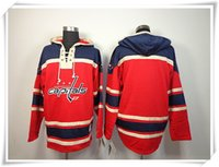 blanks de jerseys esportivos venda por atacado-ICE Hóquei Hoodies Jerseys Homens Capitals em branco Vermelho Melhor qualidade de costura Jerseys Sports jersey Ordem Mix