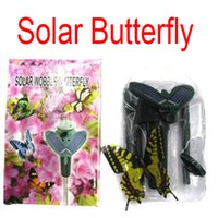 FreeDHL Solar Power Fliegen-Schmetterlings-Kinderspielzeug Garten-Yard-Dekoration Frauen Geschenke Solar butteryfly Garden Yard exotischen Spielzeug Combo Geschenk D711L