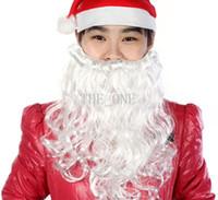 Wholesale Wholesale White Wigs - christmas santa claus beards Costume Mustache False Beard santa claus white beard santa claus costume halloween beard free shipping in stock