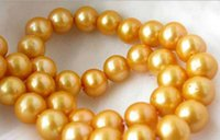 Wholesale BEST NATURAL SOUTH SEA MM BEAUTIFUL GOLDEN PEARL NECKLACE quot