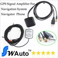 Wholesale Usb Gps Receivers - GPS Antenna GPS signal Amplifier receiver+transmitter USB connector,amplifying GPS signal for navigation system navigator phone