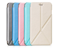Wholesale Hoco Leather Iphone Cases - Graceful HOCO Sugar series Kickstand Leather Flip cell phone Cases tactical Folding Stand Cover Case for iPhone 6 6s 6 plus 6s plus