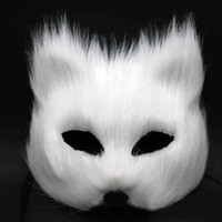 Magic Fox Sexy visage masque des femmes moitié visage gris / rouge / blanc masque de plumes mascarade Party Festif Party Supplies cadeau de Valentines 5pcs / lot SD397