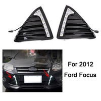 Wholesale Drl Car E4 - Gloss or Matt style E4 LED Car DRL daytime running lights with turn off and dimmer function case for 2012 Ford Focus 3 fog lamp