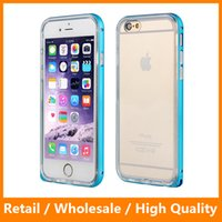 Wholesale Pink Partner - The Best Partner Ultra Thin Soft TPU+Metal Bumper Frame Mobile Phone Protector Cover Case for iPhone6 6s 6Plus 6sPlus
