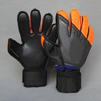 Wholesale Gloves For Summer - 5mm Latex soccer goalkeeper gloves No finger protective footable goalie gloves professional Thicken latex for racing