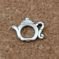 Wholesale teapot charms for sale - Group buy MIC Antique Silver Zinc Alloy teapot Charms Pendant x13 mm DIY Jewelry