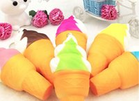Wholesale rare soft toys online - Cute Jumbo Rare Squishy Ice Cream Soft Squishy Slow Rising Squeeze Squishies Toys For Kids Toy Random colour cream without kehchian