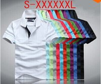 Wholesale Wholesale Men Polo - HOT sale 5pcs lot Men's Polos Shirt crocodile tommy Big small Horse Camisa Solid Short Sleeve Summer Casual Camisas Polo Mens good quality