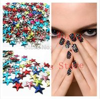 Wholesale Color Nail Sticker - Promotions 1000pcs lots 9mm Mix Color Metallic Glitter 3D Nail Art Decoration Tips Nail Sticker Mobile Phone Nail Studs Drop