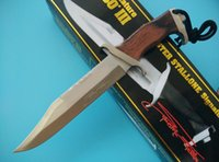 Wholesale Hunting Knives Rambo - Promotion Mini rambo knives small fixed balde hunting knife camping Utility outdoor gear knife tactical knife gift L