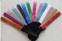 Wholesale Glitter Headband Softball - new arrive ZEBRA color Glitter headbands for girl softball headbands sparkle band 1.5*25cm