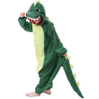 pijamas onesies adultos al por mayor-Verde Dinosaur Lion Lion Pijamas de pijamas Anime Mujeres Cosplay Animal Cartoon Adultos Onesies Ropa de dormir pijama divertido Sets Godzilla Halloween