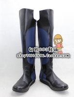Wholesale Riders Mask - Wholesale-Masked Rider Ryuki Kamen Rider Dragon Knight black blue ver cos Cosplay Shoes Boots shoe boot #JZ1624 anime Halloween Christmas