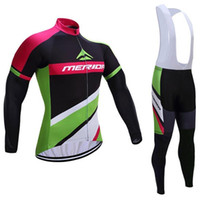 Wholesale Merida Pro Team Cycling Jersey - Pro team Lampre cycling jersey Maillot ciclismo Merida winter thermal fleece cycling clothing ropa ciclismo long sleeve bike clothing