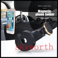 Wholesale Tablet Bag Storage - Backseat Headrest Magnet Phone Holder Car Mount Stand Holder stook storage for Cellphone Tablet Bag Purse Cloth with Retail Package