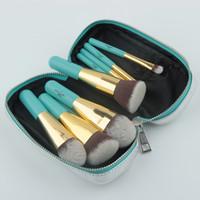 ingrosso sacchetti di spazzola per capelli-Anmor Travelling Brushes 9 pezzi Set di pennelli per capelli sintetici per capelli con borsa portatile Gm001 Kit di pennelli per cosmetici Pennelli per trucco
