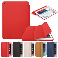 Wholesale Case For Folding Glasses - ipad case iPad 2 3 4 Mini 1 2 3 4 Air 2 Slim Magnetic Leather Smart iPad Cases Cover Wake Protector