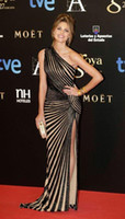 Wholesale Celebrity Black Dresses One Shoulder - New Black Sequins Zuhair Murad Mermaid Long Formal Evening Dresses One-Shoulder Nude Underwear High Slit Sexy Celebrity Gowns
