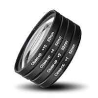 Wholesale Macro Close Up Filter Kit - Freeshipping 52MM Camera Macro Close Up Filter Lens Kit +1 +2 +4 +10 for NIKON D7100 D5100 D5200 D3300 D3200 D3100 D90 D80 D800 D700 D600