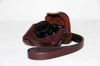 Wholesale Lens Dust Protection - Easy To Use Leather Cover Camera Bag Case For Fuji X10 X20 Protection Camera Dust Bag Send Shoulder Strap