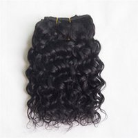 Wholesale Curly One Piece Remy Extensions - One Piece Brazilian Remy Hair Spiral Candy Curly Natural Curly Black Color Jerry Curly 100% Human Hair Extension