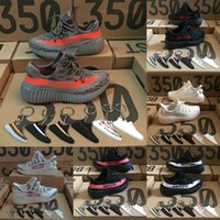 Wholesale Pink Zebra Girls - New Baby Kids Shoes Kanye West SPLY 350 Boost V2 Zebra Running Shoes Children Athletic Shoes Boy Girl Sneaker Cream White With Box
