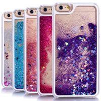 сверкающие звезды оптовых-Индивидуальный дизайн красочный сверкающая звезда жидкий песок плывун задняя крышка ПК чехол для iPhone 5 6 6 s чехол для мобильного телефона