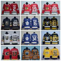 Wholesale Ads Flash - AD Hockey Jerseys 2018 New Style 29 Fleury 76 Subban 13 Gaudreau 2 Keith 19 Toews 34 Matthews 97 McDavid 87 Crosby 88 Kane 16 Marner Kessel