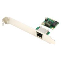 express lan karte großhandel-Großhandel - Mini PCI-E auf 1000M Gigabit Ethernet Karte MINI PCI Express LAN RJ45 Netzwerkadapter NIC Single Port