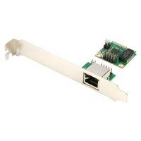 ethernet express card оптовых-Mini PCI-E до 1000 м Gigabit Ethernet Card MINI PCI Express LAN RJ45 сетевой адаптер NIC один порт