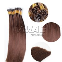 Braguiléenne Nano Tip Extensions de cheveux Humain Straight Double Drawn 1g / strand 100g 16